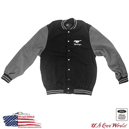 Ford Mustang Letterman Fleece Jacket - Collegejacke