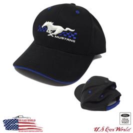 Ford Mustang Basecap - Mustang Running Horse - Schwarz/Blau