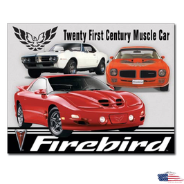 "#1770 - Pontiac Blechschild ""Firebird Tribute"""