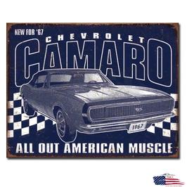"""#2135 - Camaro Blechschild """"1967 Muscle"""""""