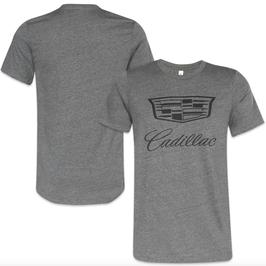 Cadillac T-Shirt mit Cadillac Logo - Dunkelgrau - lizensiert