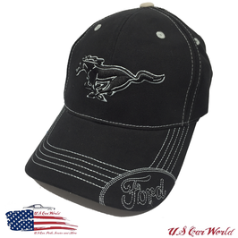 Ford Mustang Basecap Running Horse mit Ford Logo - Schwarz