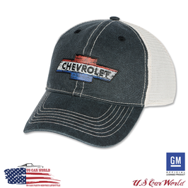 Chevrolet Basecap - Chevy Trucker Hat - Blau/Beige