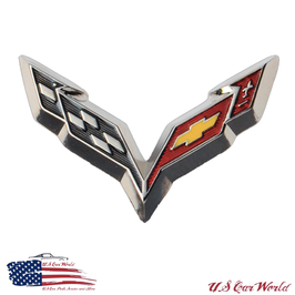 Corvette C7 Label Pin - Corvette C7 Logo Flag