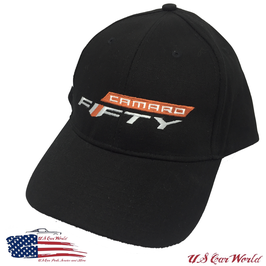 Camaro Basecap - Camaro Fifty Logo - Made In USA - Schwarz
