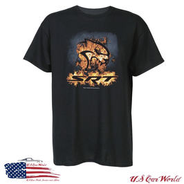 Dodge SRT Hellcat T-Shirt - Flames - Schwarz