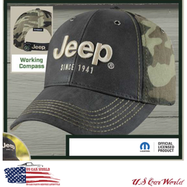 Jeep Basecap - Jeep Logo since 1941 - Leather / Camouflage - Oliv / Grün