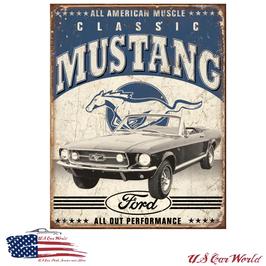 """Ford Mustang Blechschild """"Classic Mustang"""""""