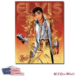 """Blechschild """"Elvis - Gold Classic"""""""