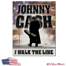 "Blechschild ""Johnny Cash - Walk the Line """