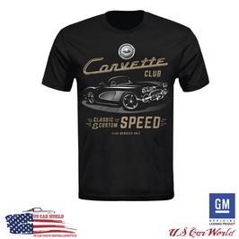 Corvette C1 T-Shirt - Corvette Classic T-Shirt - Classic & Custom Speed - Schwarz