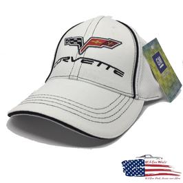 #HH104-WHT - Corvette Basecap Flex - Weiß