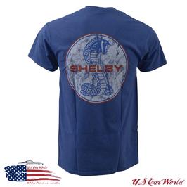 Shelby T-Shirt - Shelby Vintage Logo - Shelby Logo - Blau