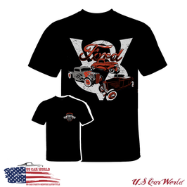 Ford T-Shirt - Ford Hot Rod - Ford 30s Motiv - Schwarz