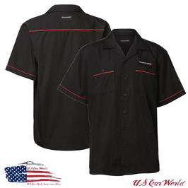 Dodge Hemd - Dodge Mechanikerhemd mit gestickten Dodge Logos - Schwarz
