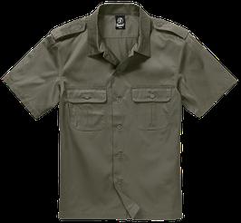 Brandit US Shirt Shortsleeve - Freizeithemd - Oliv (1)