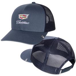 Cadillac Classic Basecap - Snapback mit Cadillac Logo - Blau - lizensiert