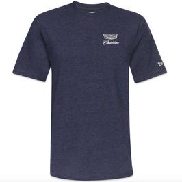Cadillac T-Shirt mit Cadillac Logo von NEW ERA - Dunkelblau - lizensiert