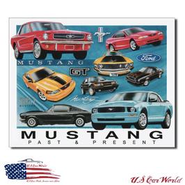 """Ford Mustang Blechschild """"Mustang Chronology"""""""