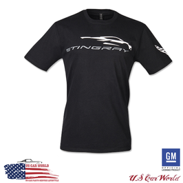 Corvette C8 Stingray T-Shirt - Corvette New Generation Silhouette T-Shirt - Schwarz
