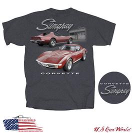 Corvette C3 T-Shirt - Corvette C3 Stingray - Dunkelgrau