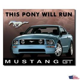 """#1202 - Ford Mustang Blechschild """"Mustang GT - 2005"""""""
