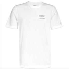 Cadillac T-Shirt mit Cadillac Logo von NEW ERA - Weiß - lizensiert