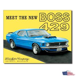 """Ford Mustang Blechschild """"Mustang Boss 429"""""""