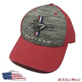 Ford Mustang Tribar Basecap - Mustang Tribar Logo - Rot/Grau
