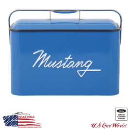 Ford Mustang Vintage Kühlbox - Blau
