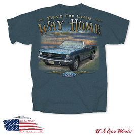 Ford Mustang T-Shirt - Long Way Home - Mustang Classic - Petrol