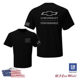 Chevrolet T-Shirt - Chevy Performance Bowtie US Flag T-Shirt - Schwarz
