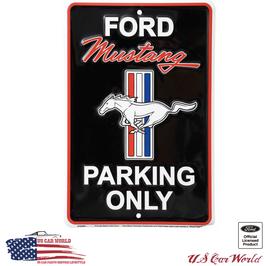 "Ford Mustang Blechschild ""Mustang Parking Only"""