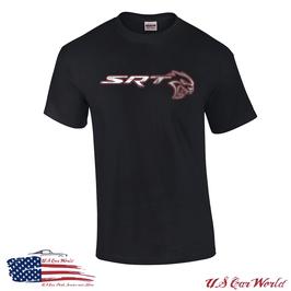Dodge SRT Hellcat T-Shirt - SRT Hellcat Logo Print - Schwarz