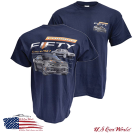 Chevrolet Camaro T-Shirt - Camaro Fifty - New Generation - Dunkelblau - SALE
