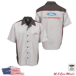 Ford Mechanikerhemd - Ford Performance - Pit Shirt - Bestickt - Grau/Schwarz
