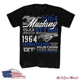 Ford Mustang T-Shirt - Mustang since 1964 - Collage - Schwarz