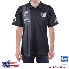 Shelby Sublimated Black Polo - Shelby Poloshirt Schwarz