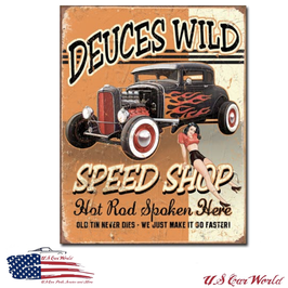 "Blechschild ""Deuces Wild Speed Shop"""