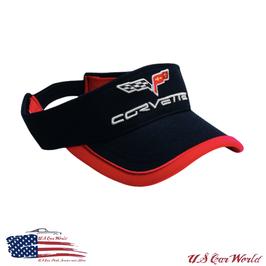 Corvette C6 Cap - Corvette C6 Sun Visor - Schwarz/Rot