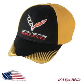 Corvette C7 Racing Basecap - Schwarz/Gelb