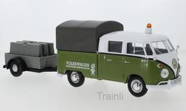 Art.Nr. 16.488  VW T1 Doppelkabine mit Service Anhänger