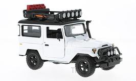 Art.Nr. 16.374 Toyota FJ40 Weiss mit Gepäckträger