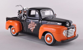 Art.Nr. 16.448 Ford + Harley Davidson F1 Pickup FLH Duo Glide 1:24