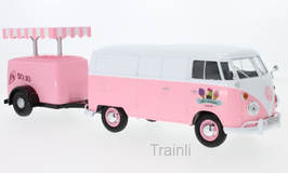 Art.Nr. 16.465  VW T1 Kastenwagen mit Kühlanhänger