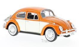 Art.Nr. 16.378 VW Käfer orange mit Heckgepäckträger 1:24