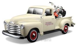 Art.Nr. 16.484 Chevrolet 3100 Pick up +Harley Davidson 2100 FLSTS HER Springer