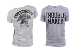Tee Shirt TROUBLE MAKER Grey