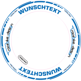 RACEBIKE WHEEL SET Standard mit Wunsch Text (Blau)