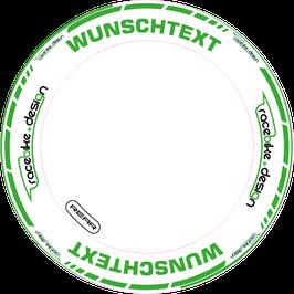 RACEBIKE WHEEL SET Standard mit Wunsch Text (Grün)